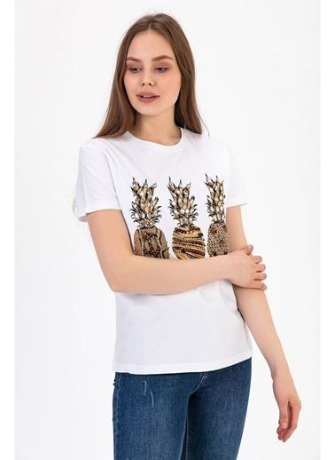 Tiffany&Tomato Kısa Kol T-Shirt Beyaz